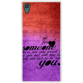 ifasho Love Quote Back Case Cover for Sony Xperia Z5