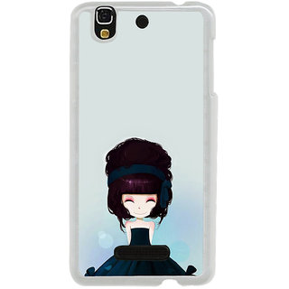 ifasho Cute Girl with Ribbon in Hair Back Case Cover for Yureka