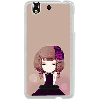 ifasho Girl  with Flower in Hair Back Case Cover for Yureka
