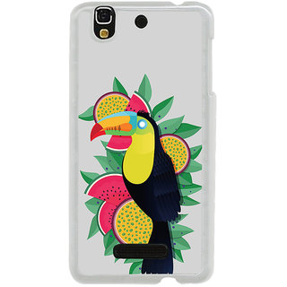 ifasho wood peacker Bird sitting animated design Back Case Cover for Yureka