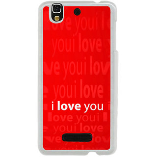 ifasho Love Quotes I love you Back Case Cover for Yureka