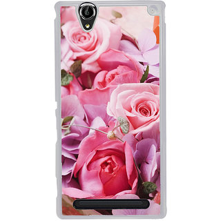 ifasho Red Rose Back Case Cover for Sony Xperia T2
