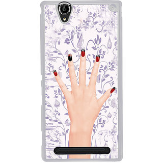 ifasho girl finger with nail polish design Back Case Cover for Sony Xperia T2