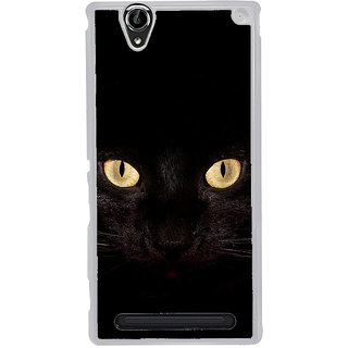 ifasho shining eyes of cat Back Case Cover for Sony Xperia T2