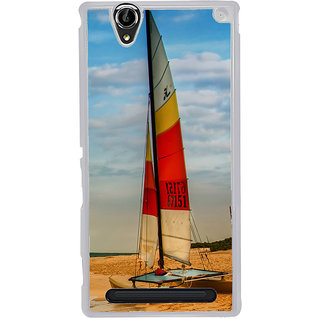 ifasho Boat in a beach Back Case Cover for Sony Xperia T2