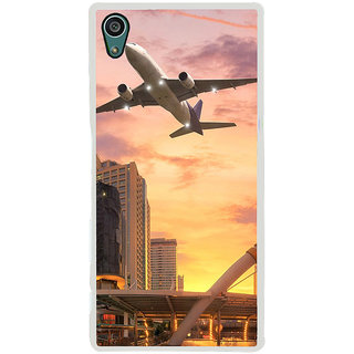 ifasho aeroPlane flying in city Back Case Cover for Sony Xperia Z5