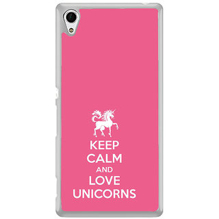 ifasho Nice Quote On Keep Calm Back Case Cover for Sony Xperia M4 Aqua