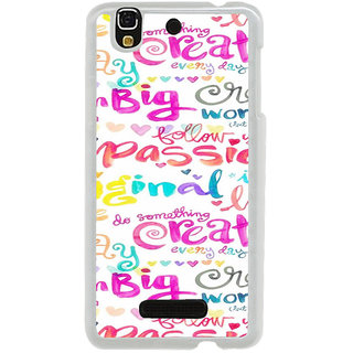 ifasho Motivatinal Quote Back Case Cover for Yureka