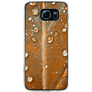 ifasho water Drop on brown leaf Back Case Cover for Samsung Galaxy S6