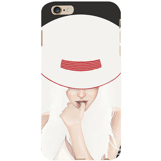 ifasho Gorgeous Winking Girl in white hat Back Case Cover for Apple iPhone 6S Plus