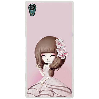 ifasho Cute Girl with Ribbon in Hair Back Case Cover for Sony Xperia Z5