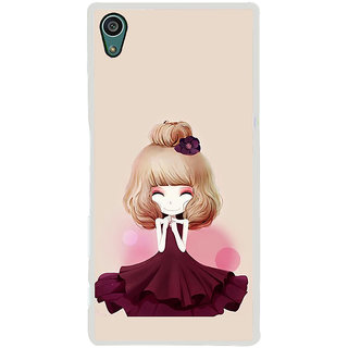ifasho Girl  with Flower in Hair Back Case Cover for Sony Xperia Z5