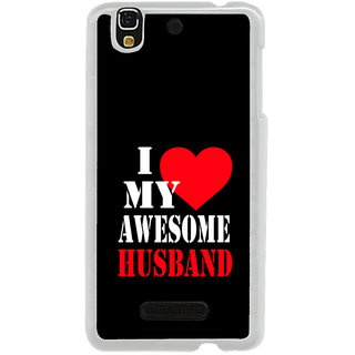 ifasho I love my husband quotes Back Case Cover for Yureka