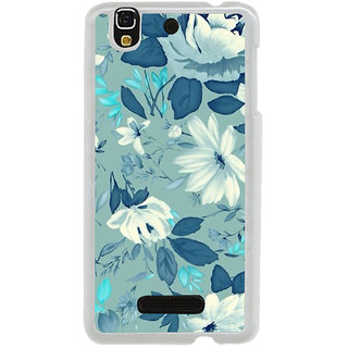 ifasho Modern Art Design animated cloth Pattern of flower Back Case Cover for Yureka