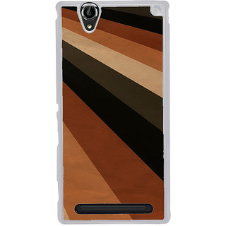 ifasho Design lines of different colours pattern Back Case Cover for Sony Xperia T2