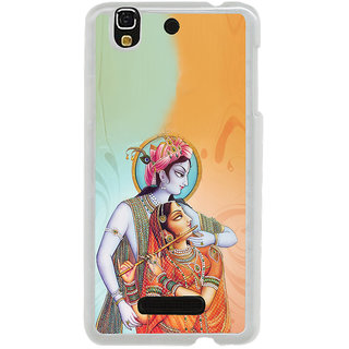 ifasho Lord Krishna and Meera Back Case Cover for Yureka