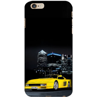 ifasho Stylish Yellow Car Back Case Cover for Apple iPhone 6S Plus