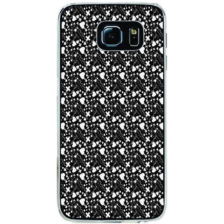 ifasho Modern Art Design Pattern with Lot Of small heart with + sign Back Case Cover for Samsung Galaxy S6