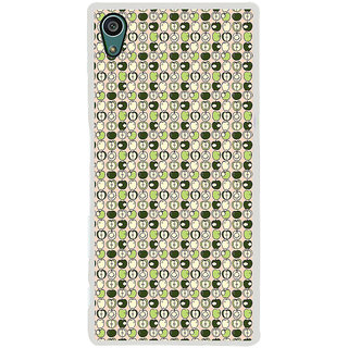 ifasho Animated Pattern design many small apple full and half Back Case Cover for Sony Xperia Z5