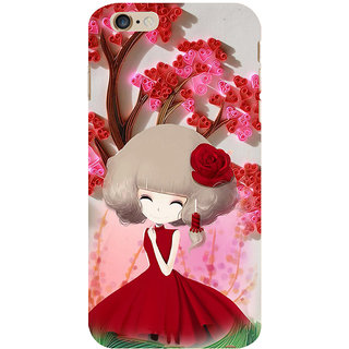 ifasho Girl  with Flower in Hair Back Case Cover for   6S Plus