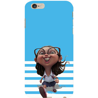 ifasho Cute Girl with Specs running to school cartoon Back Case Cover for Apple iPhone 6S Plus