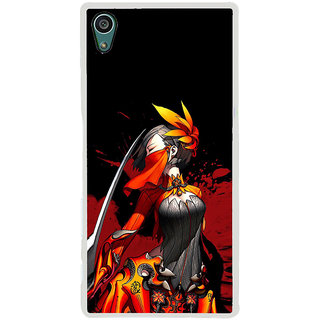 ifasho Colorful Girl animated Back Case Cover for Sony Xperia Z5