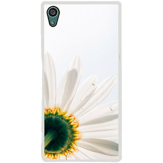 ifasho Flower Design white flower in white background Back Case Cover for Sony Xperia Z5