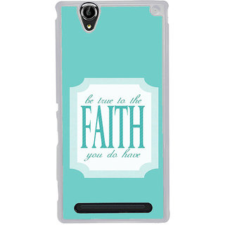 ifasho Faith  Quote Back Case Cover for Sony Xperia T2