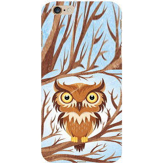 ifasho Animated Owl Pattern Back Case Cover for   6S Plus