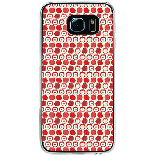 ifasho Animated Pattern design many small apple Back Case Cover for Samsung Galaxy S6