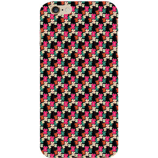 ifasho Animated Pattern design colorful flower in black background Back Case Cover for Apple iPhone 6S Plus
