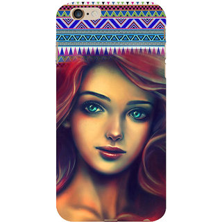 ifasho Gorgeous Winking Girl Back Case Cover for Apple iPhone 6S Plus