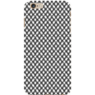 ifasho Modern Theme of black and white Squre lines Back Case Cover for Apple iPhone 6S Plus