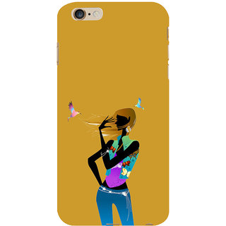 ifasho Girl with Bird Back Case Cover for Apple iPhone 6S Plus
