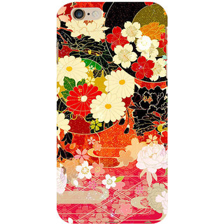 ifasho Animated Pattern flower with leaves Back Case Cover for   6S Plus