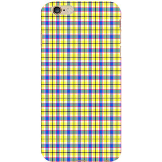 ifasho Colour Full yellow Squre Pattern Back Case Cover for   6S Plus