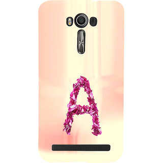 ifasho alphabet name series A Back Case Cover for Asus Zenfone 2 Laser ZE601KL