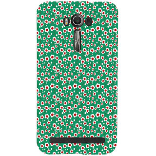 ifasho Pattern green white and red animated flower design Back Case Cover for Asus Zenfone 2 Laser ZE601KL