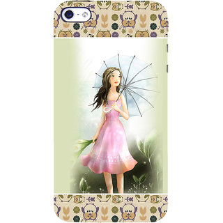ifasho young Girl with umbrella Back Case Cover for Apple iPhone 5