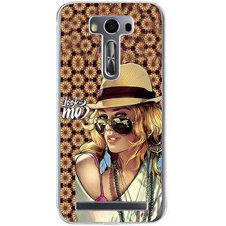 ifasho Look at me Girl Back Case Cover for Zenfone 2 Laser ZE500KL