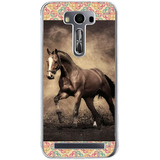 ifasho Brown Horse Back Case Cover for Zenfone 2 Laser ZE500KL