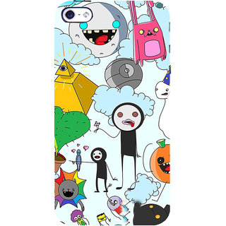ifasho Cartoon Soft face many cartoons characters Back Case Cover for Apple iPhone 5