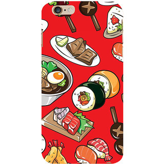 ifasho Animated food pattern Back Case Cover for Apple iPhone 6S Plus