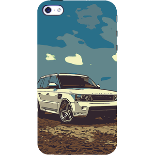 ifasho Vintage white Car Back Case Cover for Apple iPhone 5