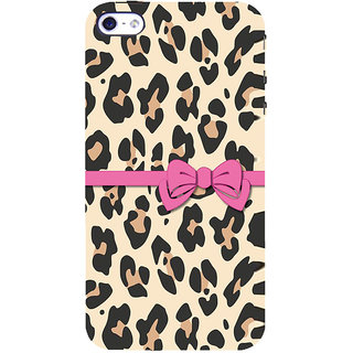 ifasho leopard design gift knot Back Case Cover for Apple iPhone 5