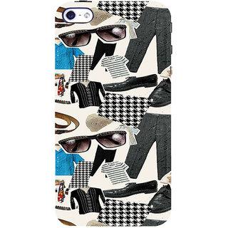 ifasho Modern Art Design Pattern man dress shoes spec belt Back Case Cover for Apple iPhone 5