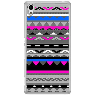 ifasho multi color Triangular and circle Pattern Back Case Cover for Sony Xperia Z3 Plus