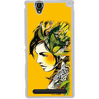 ifasho Jungle girl Back Case Cover for Sony Xperia T2