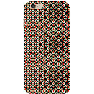 ifasho Animated Pattern design black and red flower in white background Back Case Cover for Apple iPhone 6S Plus