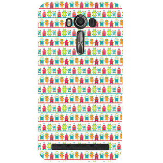 ifasho Modern Art Design Pattern Lot Doll and postbox  Back Case Cover for Asus Zenfone 2 Laser ZE601KL